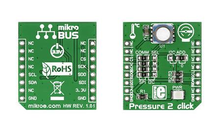 MikroElektronika - MIKROE-1880 - MikroElektronika 移动压力测量系统 评估测试板 MIKROE-1880; 嵌入式 MCU (24 bit ADC 内核)
