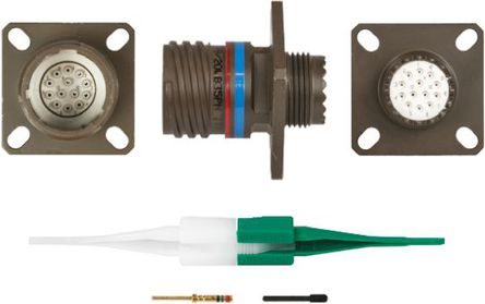 ITT - KJB0T11W35PN - ITT KJB 系列 13路 面板安�b �B接器 螺�y 插座 KJB0T11W35PN, 公�|芯, 外�こ叽�11, MIL-DTL-38999
