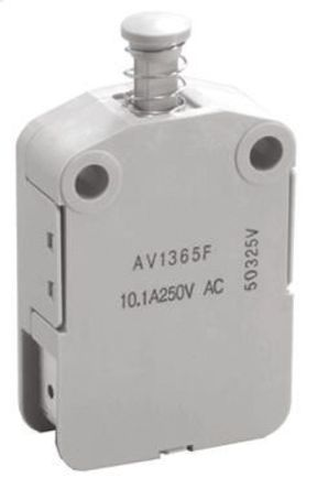 Panasonic - AV13653F - 双刀双掷 - 常开 安全互锁开关, 10.1 A @ 250 V 交流