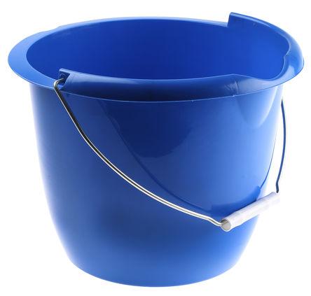 RS Pro - WR02BU24L - RS Pro WR02BU24L 10L 带把手 蓝色 塑料 水桶
