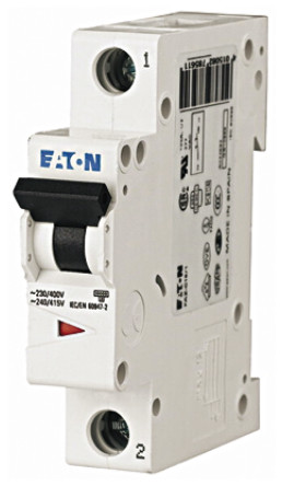 Eaton - FAZ6-C0,5/1 - Eaton xEffect FAZ6 系列 1极 500 mA MCB 微型断路器 FAZ6-C0,5/1, 6 kA 断开能力, C型 跳闸特性
