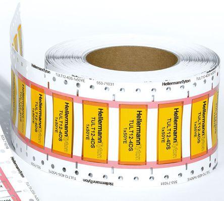 HellermannTyton - 553-71031 - HellermannTyton TULT DS 系列 �崾湛s��|�擞�套管 553-71031, 使用于TrakMark DS,TT 430 �撕�打印�C,TT4000+