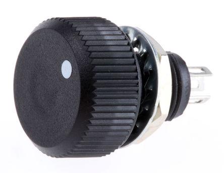Vishay - P16NP224MAB15 - Vishay P16 系列 220kΩ ±20% 线性 金属陶瓷电位器 P16NP224MAB15, 1W, ±150ppm/°C, 面板安装
