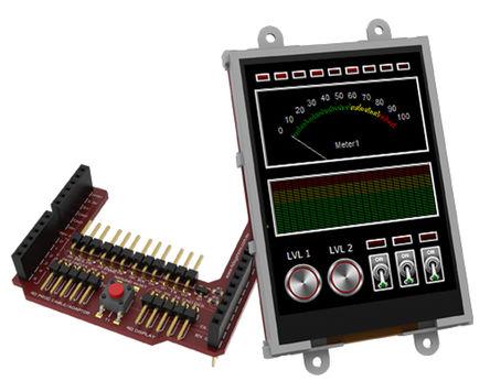 4D Systems - uLCD-32PTU-AR - 4D Systems Picaso 系列 3.2in TFT 触摸屏 触摸屏显示模块, 240 x 320pixels 分辨率 VGA, LED背光 串行 接口