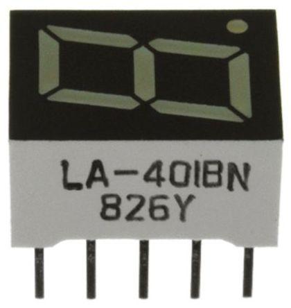 Broadcom - HDSP-3351 - Broadcom 1字符 7段 共阳 红色 LED 数码管 HDSP-3351, 1.48 mcd, 右侧小数点, 10.92mm高字符, 通孔安装