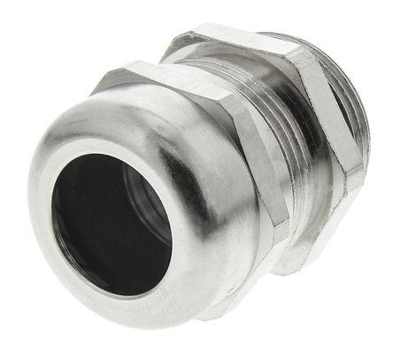 Lapp - 52103330+53112640 - Lapp IP68 镀镍黄铜 带锁紧螺母的电缆固定头 52103330+53112640, 9mm 至 16.51mm电缆直径, -30°C至+100°C, M25螺纹