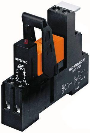 TE Connectivity - RT3S4R24 5-1415073-1 - TE Connectivity RT3S4R24 5-1415073-1 单刀双掷 DIN导轨 接口继电器模块, 16A, 24V ac