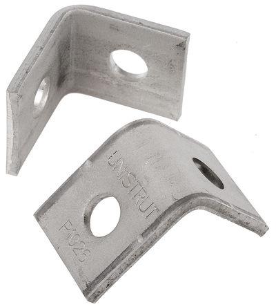 Unistrut - P 1026 SS - 角支架 90° 2孔 不锈钢 L 型架, 14mm孔