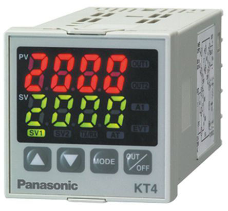 Panasonic - AKT4111100 - Panasonic KT4 系列 PID 温度控制器 AKT4111100, 48 x 48mm, 100 → 240 V 交流, 1输出