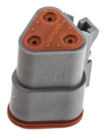 Amphenol - AT06-3S - Amphenol 3路 电缆安装 公 电源连接器 AT06-3S