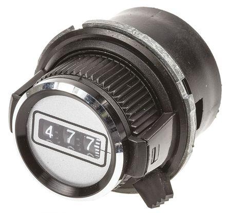 Vishay - 26A21B10 - Vishay 黑色 多转刻度盘 26A21B10, 带黑色指示灯, 6.35mm轴, 30.6mm直径旋钮