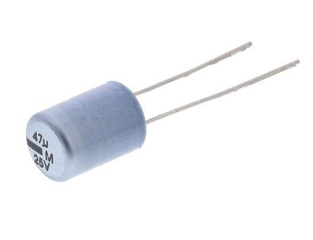 Vishay - MAL201336479E3 - Vishay 13 系列 25 V 47μF 铝电解电容器 MAL201336479E3, ±20%容差, 最高+85°C