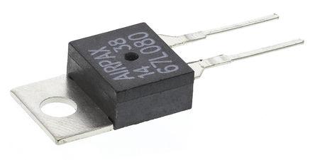 Airpax Senata - 67L080 - Airpax Senata, +40 至 +130 °C NC 恒温器 67L080, 额定值: 1 A, 印刷电路板引脚接端