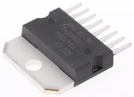 STMicroelectronics - TDA7264 - STMicroelectronics TDA7264 AB 类 立体声 扬声器放大器, +150 °C, 25 W @ 8 Ω最大功率, 8引脚 MULTIWATT V封装