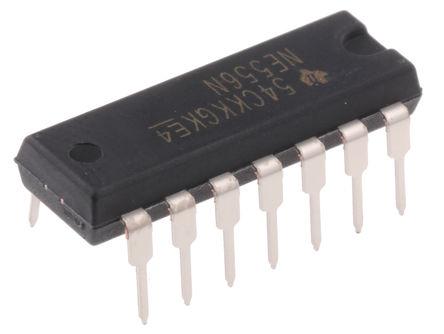 Texas Instruments - NE556N - Texas Instruments NE556N 双 计时器电路, 4.5 → 16 V电源, 14引脚 PDIP封装