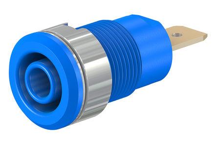 HCK - 23.3060-23 - HCK 23.3060-23 蓝色 4mm 插座, 1kV 32A, 镀金触点