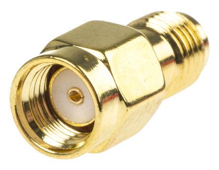 RF Solutions - ADP-SMAMRP-SMAF - RF Solutions 50Ω 直 射频适配器 ADP-SMAMRP-SMAF, 3GHz, SMA RP 插头 到 SMA 插座, 金镀镍触芯