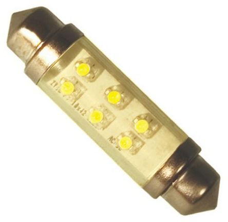 JKL Components - LE-0603-04Y - JKL Components 黄色光 尖浪形 LED 车灯 LE-0603-04Y, 43 mm长 10.5mm直径, 24 V 直流 12 mA, 2 lm