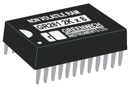 STMicroelectronics - M48T12-70PC1 - STMicroelectronics M48T12-70PC1 实时时钟 (RTC), 计时器 SRAM功能, 16kbit RAM, 4.5 → 5.5 V电源, 24引脚 PCDIP封装