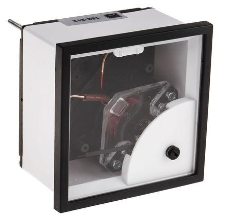 HOBUT - D72MIS5A6/2-001 NO DIAL - HOBUT D72SD 系列 0/5/30A 交流 模拟面板电流表 D72MIS5A6/2-001 NO DIAL, 72mm 宽 x 38.5mm 深, 精确度 1.5 级