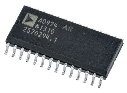 Analog Devices - AD974ARZ - Analog Devices AD974ARZ 16 位 ADC, SPI接口, 28引脚 SOIC W封装