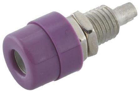 Hirschmann Test & Measurement - 930176109 - Hirschmann 930176109 紫色 4mm 插座, 30 V ac, 60 V dc 16A, 镀锡触点