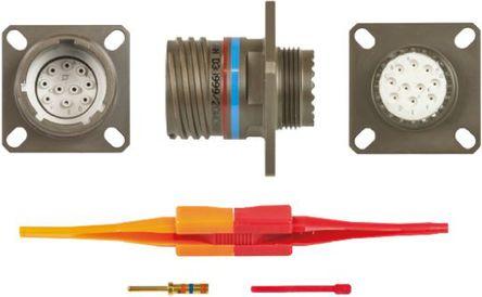 ITT - KJB0T13W98PN - ITT KJB 系列 10路 面板安�b �B接器 螺�y 插座 KJB0T13W98PN, 公�|芯, 外�こ叽�13, MIL-DTL-38999