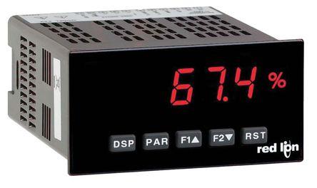 Red Lion - PAXD0010 - Red Lion PAXD 系列 LED 数字面板式多功能表 PAXD0010, 测量电流、应变、温度、电压