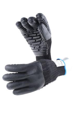 BM Polyco - 8763 - BM Polyco Tremor-Low 系列 2件装 抗振 黑色 可重复使用的手套 8763, 泡沫涂层, 尺寸9 - M