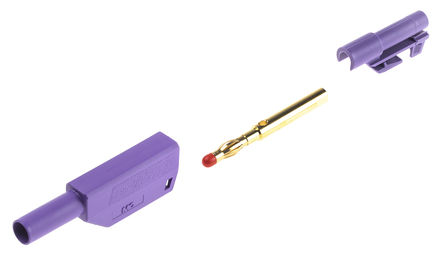 Multi Contact - 22.1203 + 22.2380-26 - Multi Contact 22.2658-26 紫色 香蕉插头, 1kV 32A, 镀金触点