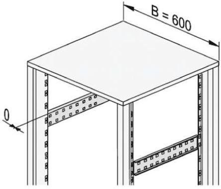 Schroff - 20230855 - Schroff 钢 深入部件 20230855, 645 x 13.5 x 60mm, 使用于19-Inch Frame, Universal Frame