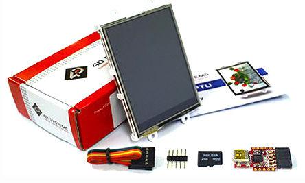 4D Systems - SK-28PTU - 4D Systems 2.8in LCD 彩色�@示屏入�T套件 SK-28PTU