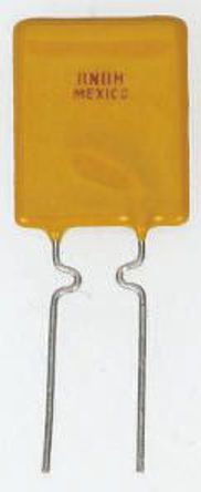 TE Connectivity - RUSBF160 - TE Connectivity 1.6A 径向 带引线的 PCB 固定可复位熔断器 RUSBF160, 0.9W功耗, 16V dc, 8.9 x 3 x 15.2mm