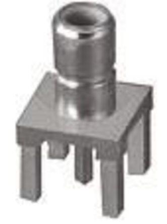 TE Connectivity - 1310851-1 - TE Connectivity 50Ω 直向 通孔安装 SMB 连接器 插座 1310851-1, 黄铜触芯, 焊接端接