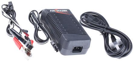 Ansmann - 5607112 - Ansmann 自动铅酸电池充电器 5607112, 12 V @ 3 A, 2充电阶段, 100 → 240V ac输入, 12V输出@3A, 英国插头
