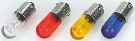 Dialight - 5862402203F - Dialight 绿色 BA9s LED指示灯灯泡 5862402203F, 单芯片, 9 mm灯, 14 V 直流, 15 mA额定电流, 1650 mcd, 10mm直径