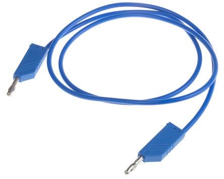 Hirschmann Test & Measurement - 934063102 - Hirschmann Test & Measurement 934063102 蓝色 测试引线, 32A额定电流, 60V dc, 公至公, 1m长