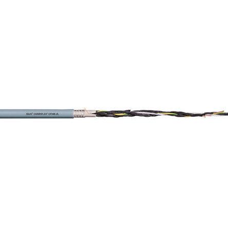 Igus - CF140.05.18.UL - Igus 18 芯 20 AWG 屏蔽 灰色 聚氯乙烯 PVC护套 执行器/传感器电缆 CF140.05.18.UL, 13.5mm 外径
