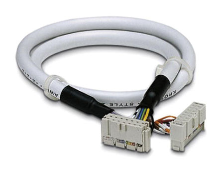 Phoenix Contact - 2304403 - Phoenix Contact 2304403 3m IDC 16 针 - IDC 14 针 母 - 母 电缆, 使用于Emerson DeltaV