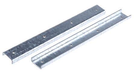 Unistrut - P 1219 - Unistrut 254mm 钢 轨道拼接架 P 1219, 每件0.56kg, 适合21 x 41mm槽架