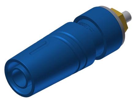 Hirschmann Test & Measurement - 972358702 - Hirschmann 972358702 蓝色 4mm 插座, 1000V ac/dc 32A, 镀金触点