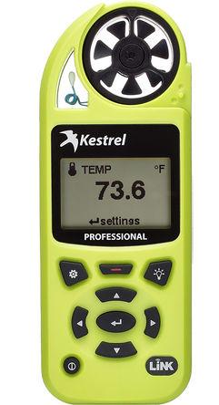 Kestrel - 0852LHVG - Kestrel 0852LHVG 风速计, 最大风速40m/s, 测量气流、海拔、密度、密度海拔、露点、蒸发率、热指数、含湿量、压力、相对空气密度、顺风、湿球温度、风寒