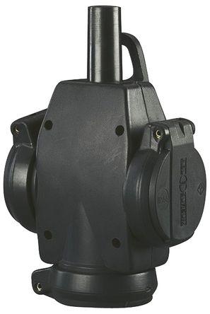 ABL Sursum - 1473597 - ABL Sursum 黑色 3 插座 电源 接线板 1473597, 电缆安装