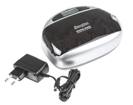Energizer - 7638900298758 - Energizer 632959 2 (9V)/2 (AA)/2 (AAA)/2 (C)/2 (D) 镍镉/镍氢电池 电池充电器, 欧洲插头