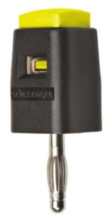 Schutzinger - SDK 502 / GE - Schutzinger SDK 502 / GE 黄色 香蕉插头, 30 V ac, 60 V dc 16A, 镀镍触点