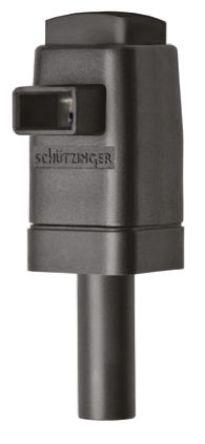 Schutzinger - SDK 799 / SW - Schutzinger SDK 799 / SW 黑色 香蕉插头, 300V 16A, 镀镍触点