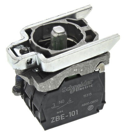 Schneider Electric - ZB4BW0B33 - Schneider Electric XB4 系列 接触块和照明块 ZB4BW0B33, 2 常开, 24 V 交流/直流, 绿色 LED, 螺钉接端