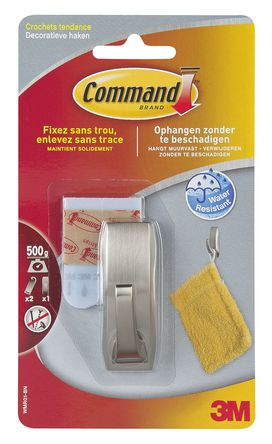 3M - MR01BC - Small Hook Chrome With Strips