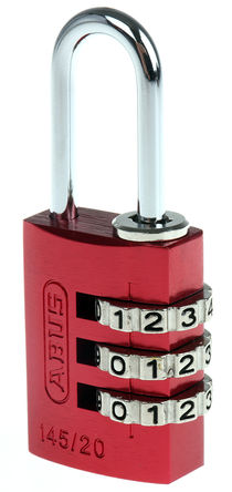 ABUS - 145/20 Red - Abus 145/20 Red �t色 �M合 �X,� 安全�戽i, 3mm �i�^