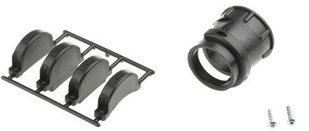TE Connectivity - 206512-5 - TE Connectivity CPC 系列 黑色 热塑塑料 电缆夹 206512-5, 28.58mm 捆束直径